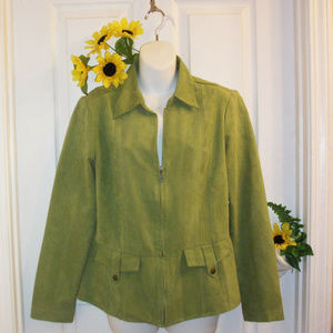CATO Size M Microfiber Jacket Apple Green